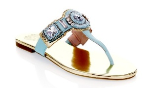 I was tempted to buy a pair of blue, bejeweled sandals that don't even fit.