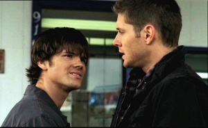 Dean tells Sam what remembers about the night their moither died.