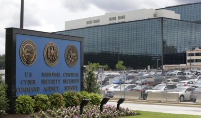 This is a view of NSA from one of it's many, many parking lots.
