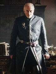 Tywin Lannister is a formidable presence.