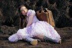 Alice falls down the rabbit hole.