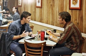 Dean and Sam argue over dinner.
