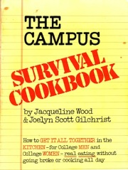"My cover of ""the Campus Survival Cookbook"" is very stained."