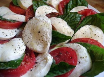 This version of Insalata Caprese is from In Italy.com