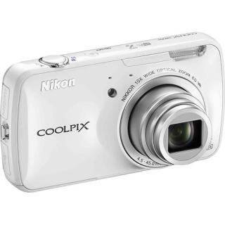 The white Nikon Coolpix is a cool-looking camera.