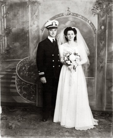 My mother and father were married during World War II.