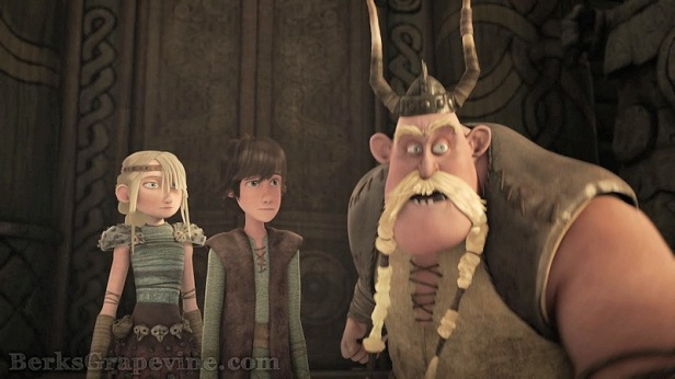 "Astrid, Hiccup and Gobber from ""Cast Out"""