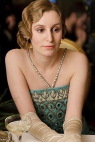 Lady Edith Crawley is out on the town with her beau.