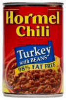 Hormel makes a great low-fat turkey chili without beans.