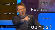 Chris Hardwick awards points to guests for funny comebacks.