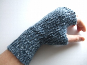 "I'm making a pair of ""garter stitch mitts"" by Ysolda from Ravelry."