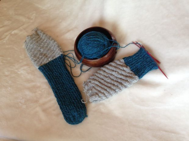 One tube sock down, one more to finish.