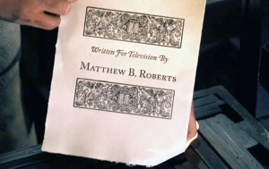 Outlander's episode 306 title card was printed on an 18th century printer.