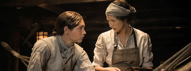 Elias Pound assists Claire attending to the sick.