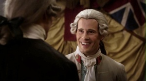 Lord John Grey greets Jamie Fraser.